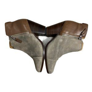 Rag & Bone Brown Suede Leather Trim Embellished